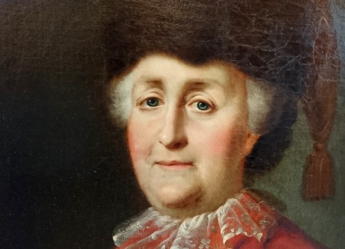 Paintings & Drawings  - Portrait of the Empress Catherine the Great - attr. to M. Shibanov, c. 1787