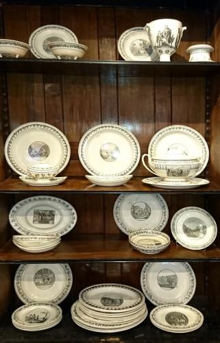 A composite set of 229 Creil faience fine pieces, Stone Coquerel & Legros - Porcelain & Faience Style Restauration - Charles X