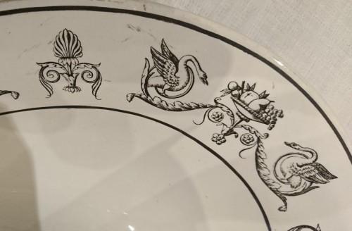 Antiquités - A composite set of 229 Creil faience fine pieces, Stone Coquerel & Legros