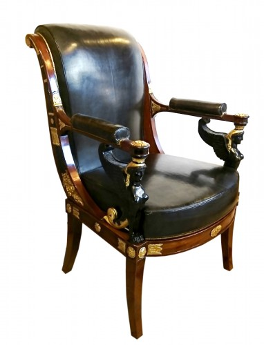 A French Consulate period armchair, attr. to Jacob Desmalter