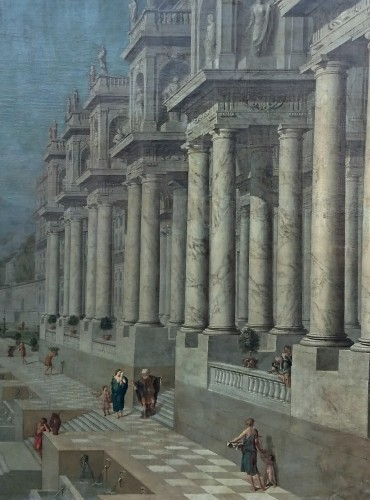 Architectural capriccio, W. van EHRENBERG, circa 1660 - Paintings & Drawings Style Louis XIV
