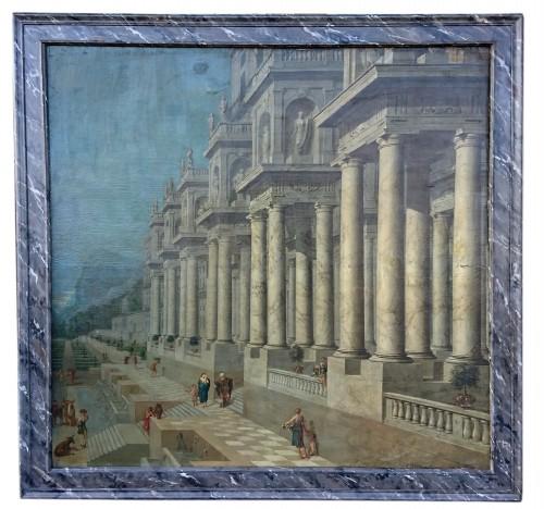 Architectural capriccio, W. van EHRENBERG, circa 1660 -
