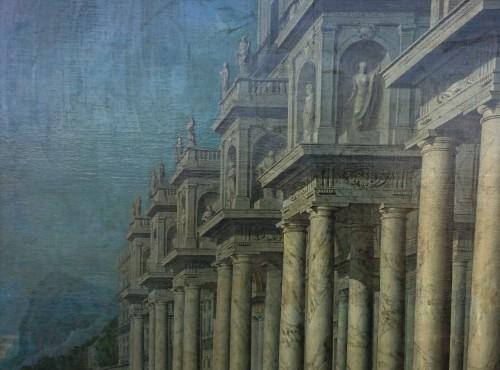 17th century - Architectural capriccio, W. van EHRENBERG, circa 1660