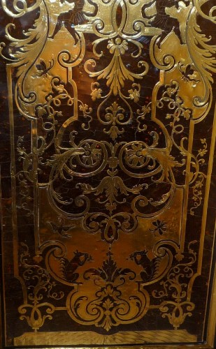 Furniture  - A French late Louis XIV period Boulle marquetry bookcase, attr. to SAGEOT