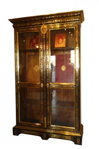 A French late Louis XIV period Boulle marquetry bookcase, attr. to SAGEOT - Louis XIV
