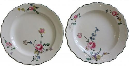 Marseille ceramic polychrome plates, signed Veuve Perrin