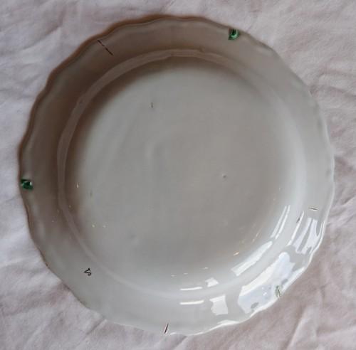 Porcelain & Faience  - Marseille ceramic polychrome plates, signed Veuve Perrin