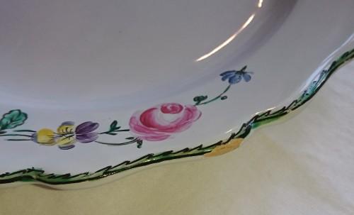 Marseille ceramic polychrome plates, signed Veuve Perrin -