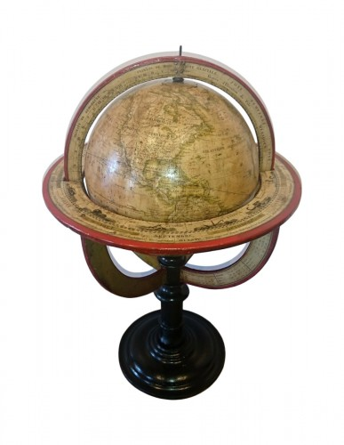 A French terrestrial globe by Lorrain, model by lapie, circa 1830-1835