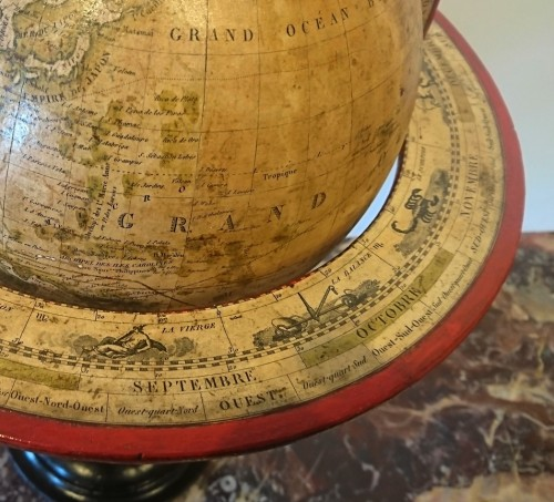 Collectibles  - A French terrestrial globe by Lorrain, model by lapie, circa 1830-1835