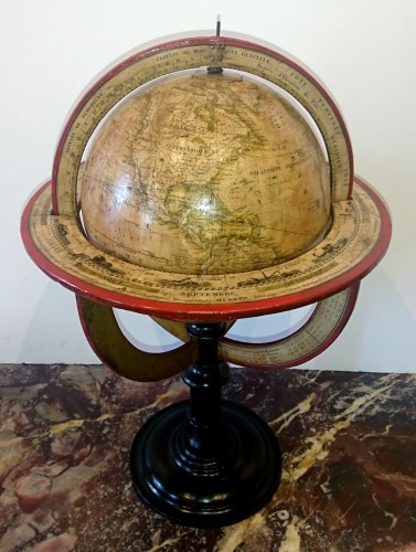 A French terrestrial globe by Lorrain, model by lapie, circa 1830-1835 -