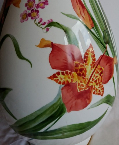 Porcelain & Faience  - Napoleon III period Sevres porcelain vase, Charles Garnier, 1853