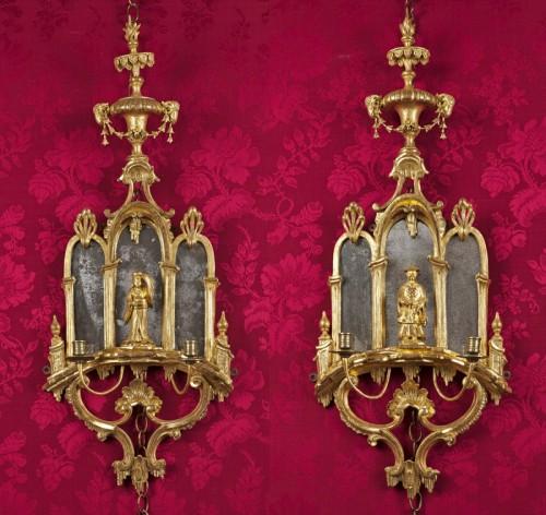 Antiquités - Pair of English George III girandoles