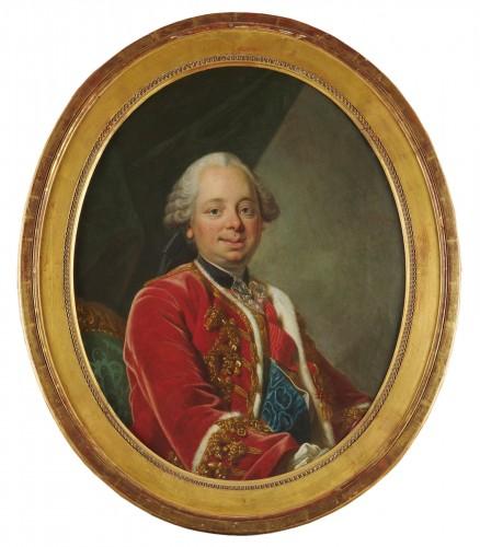 A portrait of the Duc de Choiseul - Workshop of Louis Michel Van Loo