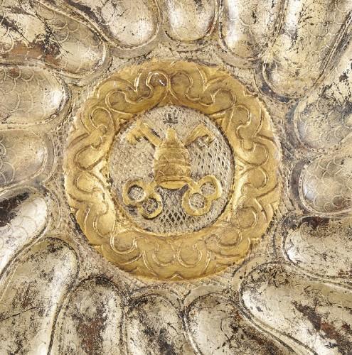 A large Italian rococo papier maché (cartapesta) circular tray, c. 1730 - Religious Antiques Style Louis XV