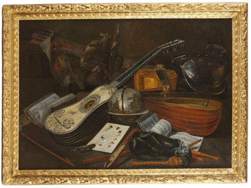 Italian still life of musical instruments attributed to Bartolomeo Bettera