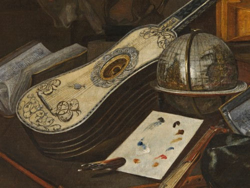 Paintings & Drawings  - Italian still life of musical instruments attributed to Bartolomeo Bettera