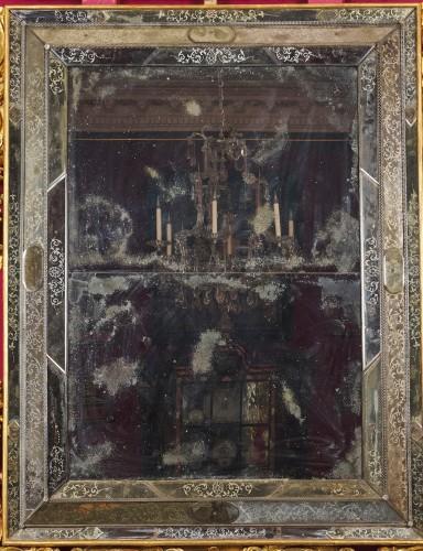 18th century - A large Venetian baroque gilt wood mirror circa 1720