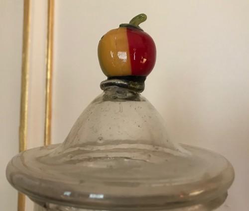 - A set of five Venetian glass apothecary jars circa 1850