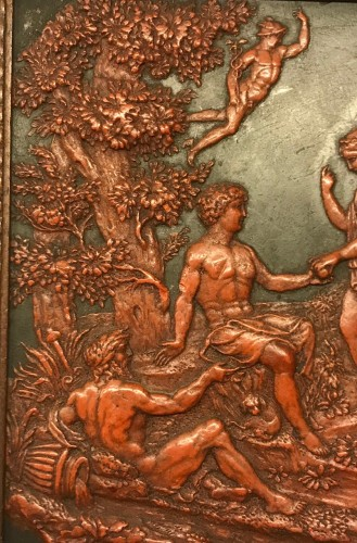A Flemish wax on slate panel The judgement of Paris circa 1800 - Curiosities Style