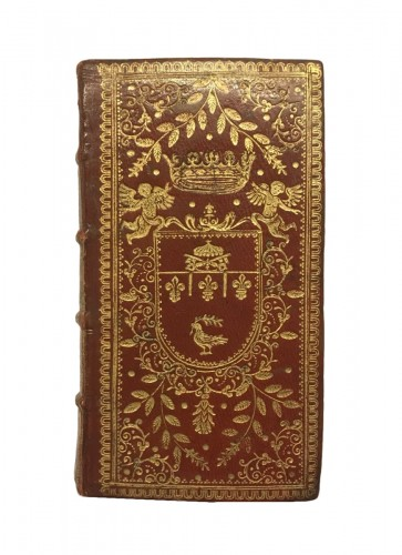 Red leather binding with the arms of Prince benedetto Pamphili 1671
