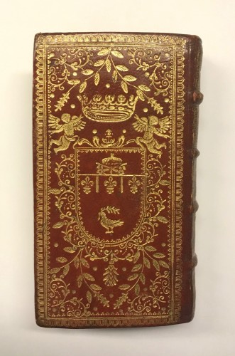 Engravings & Prints  - Red leather binding with the arms of Prince benedetto Pamphili 1671
