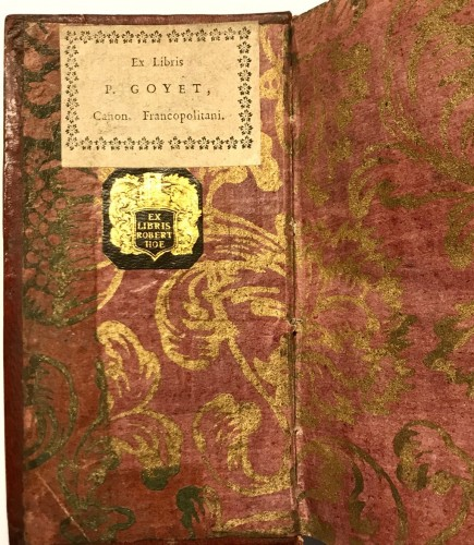 Red leather binding with the arms of Prince benedetto Pamphili 1671 -