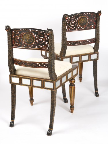 A pair of Anglo Indian lacquered chairs circa 1830 - Seating Style