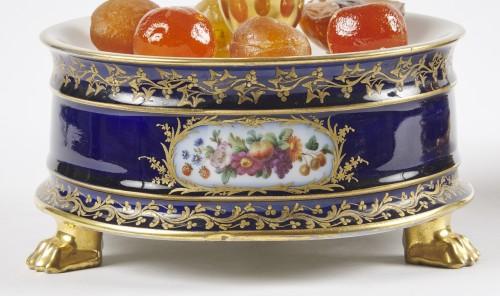 A pair of French Paris porcelain surtout circa 1830 - Porcelain & Faience Style