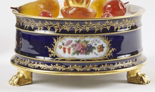 19th century - A pair of French Paris porcelain surtout circa 1830