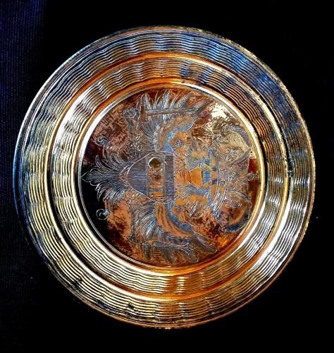 18th century - Gilt bronze circular lid for the big seal of Emperor Charles VI Habsburg