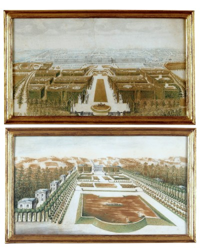 Marly and Versailles - A pair of French 18th century drawings