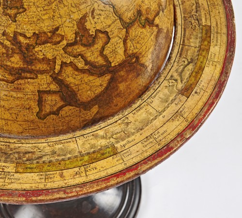 19th century - A pair of terrestrial globe and planetarium by Delamarche dated 1821