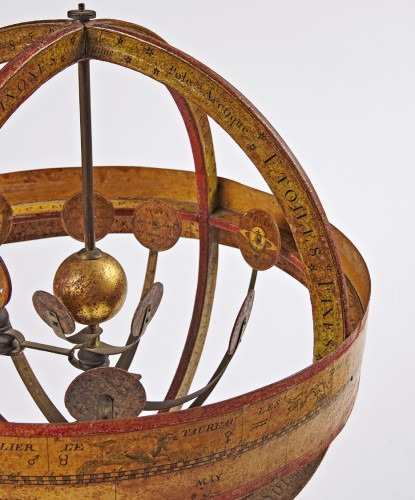 Restauration - Charles X - A pair of terrestrial globe and planetarium by Delamarche dated 1821