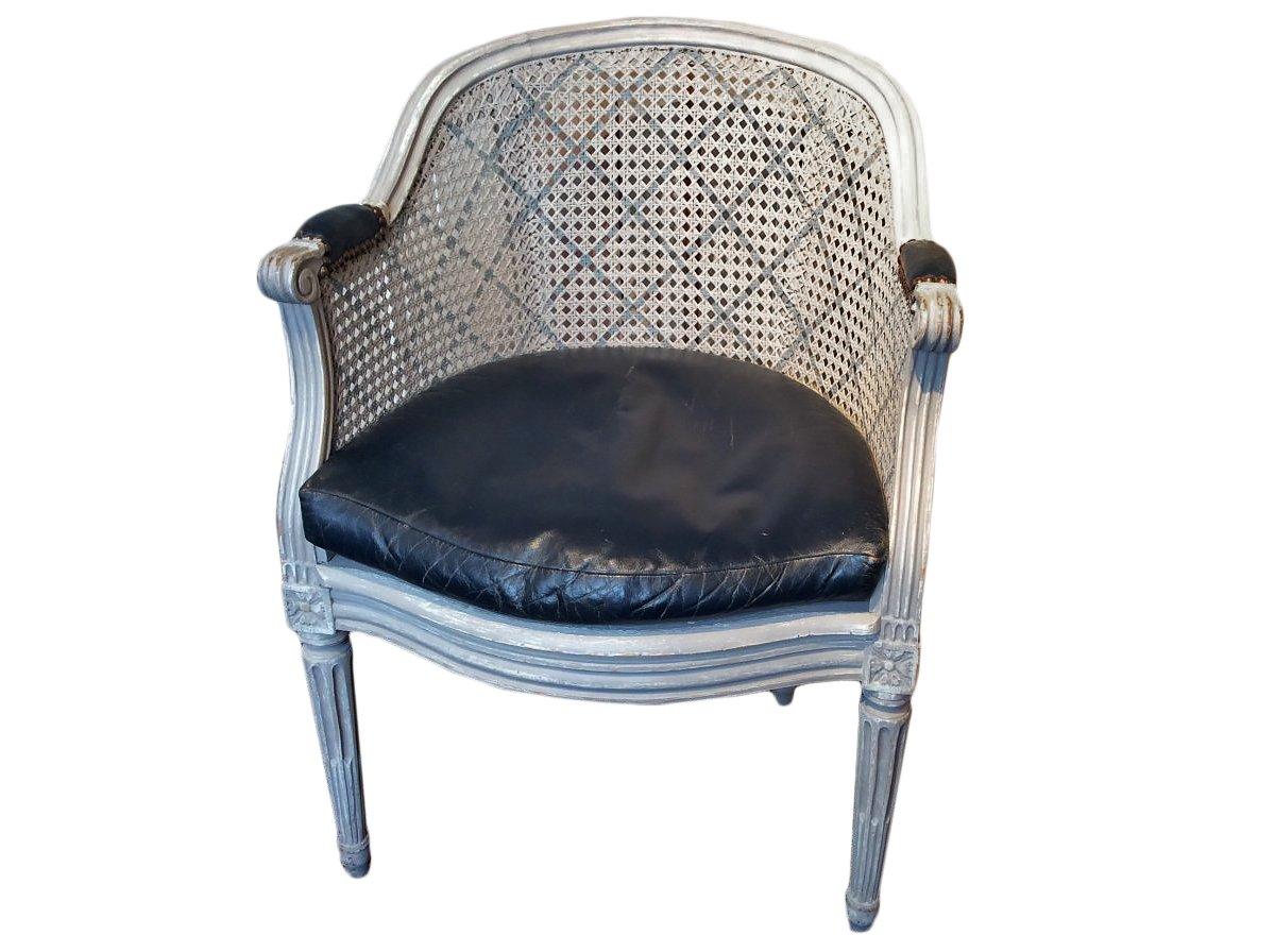 fauteuil de bureau d 39 poque louis xvi xviiie si cle n. Black Bedroom Furniture Sets. Home Design Ideas