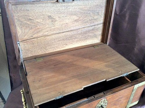 18th century - Large box with secret drawers by Jean-François Hache