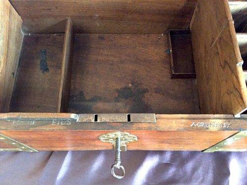 Antiquités - Large box with secret drawers by Jean-François Hache