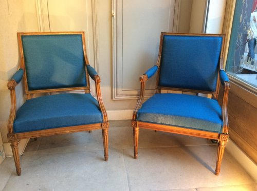 Paire de fauteuils estampillés Georges Jacob