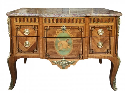 Commode d'époque Transition Estampillé P.DEFRICHE