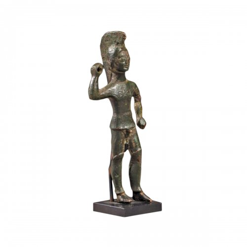 Etruscan bronze statuette of a standing warrior. 5th century B.C.