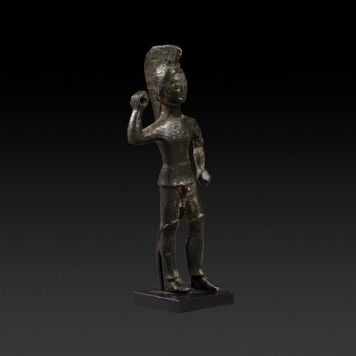 Etruscan bronze statuette of a standing warrior. 5th century B.C. - Ancient Art & Antiquities Style