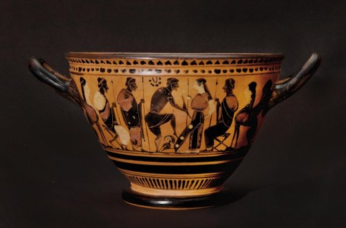 Ancient Art & Antiquities  - Attic black figured skyphos by the Painter of the Nicosia Olpe