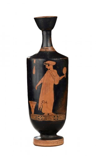 Attic red figured lekythos attributed to the Palermo 4 Painter