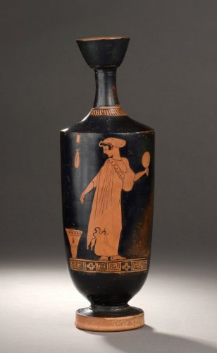 Attic red figured lekythos attributed to the Palermo 4 Painter - Ancient Art & Antiquities Style