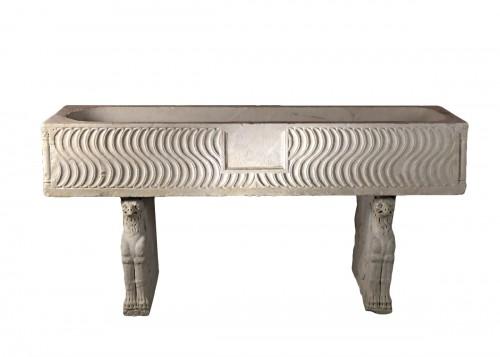 Roman Sarcophagus with Strigils, 3rd century