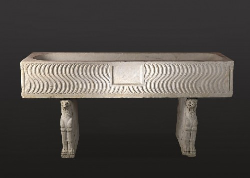 Ancient Art & Antiquities  - Roman Sarcophagus with Strigils, 3rd century