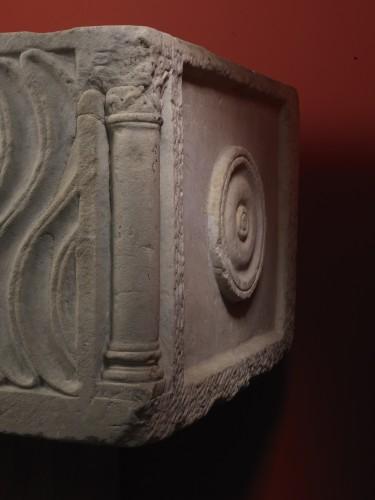 Roman Sarcophagus with Strigils, 3rd century -
