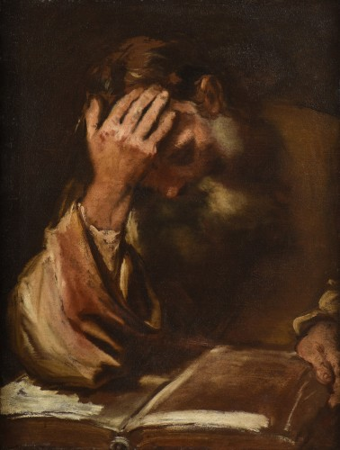 Federico BAROCCI (Urbino, 1535 – 1612) - Study of man reading