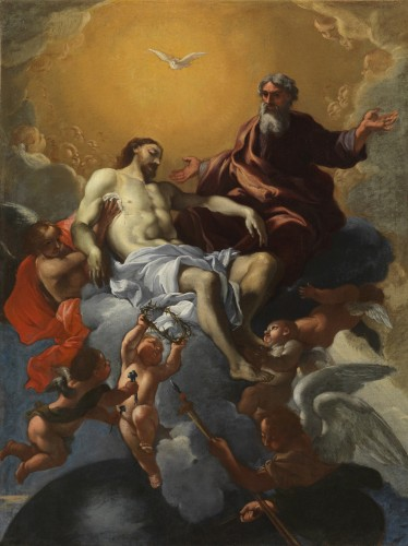 Guillaume COURTOIS, said Guglielmo CORTESE said IL BORGO - The Trinity with the dead Christ