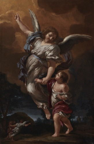 CIRO FERRI (Rome, 1634 –1689) - Guardian Angel
